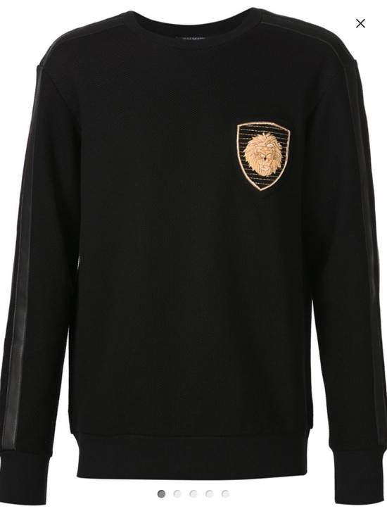 Balmain BALMAIN Embroidered Crest Badge Cotton-Jersey Sweatshirt Size US S / EU 44-46 / 1 - 3