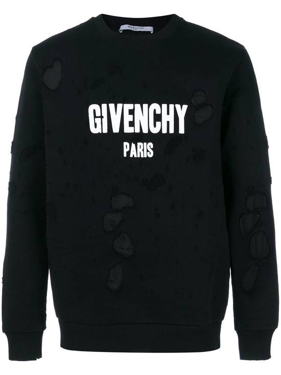 Givenchy $1300 Givenchy Black Destroyed Distressed Logo Rottweiler Shark Sweater size S Size US S / EU 44-46 / 1 - 1
