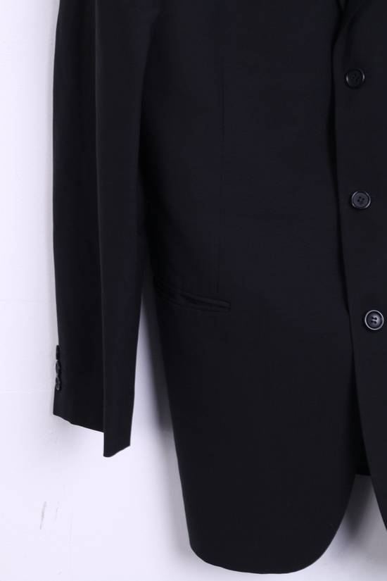Balmain BALMAIN Paris Mens 46 Blazer Top Suit Black Regular Wool Single Breasted 6860 Size 46R - 2