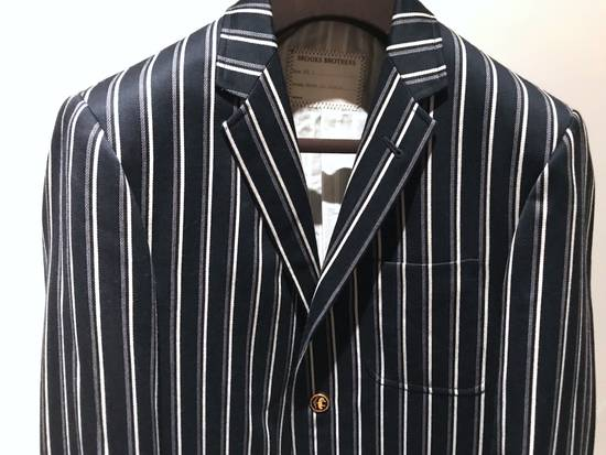 Thom Browne NAVY STRIPED CROPPED PREPPY BLAZER Size 48S - 1