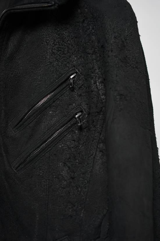 Julius AW12 Black Destroyed Lamb Jutneck Leather Jacket Size US M / EU 48-50 / 2 - 3