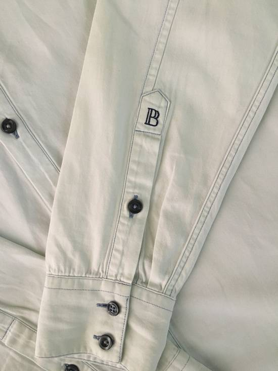 Balmain Bleached out Button Down Denim Shirt Size US S / EU 44-46 / 1 - 2