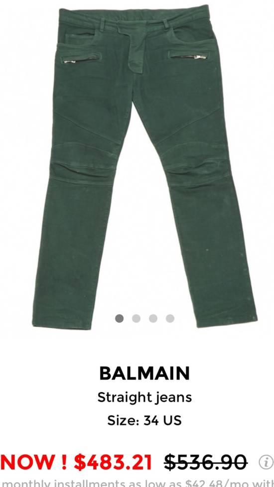 Balmain FINAL DROP!!! Green Biker Balmain Jeans Size US 34 / EU 50