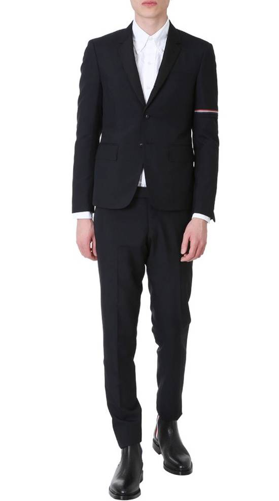Thom Browne Brand New Thom Browne Arm Detailed Black Wool Blazer Size 46R - 1