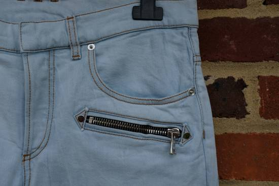 Balmain Light Blue Biker Jeans Size US 27 - 5