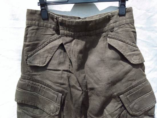 Julius Green Linen Blend Gas Mask Cargo Pants Size US 30 / EU 46 - 2