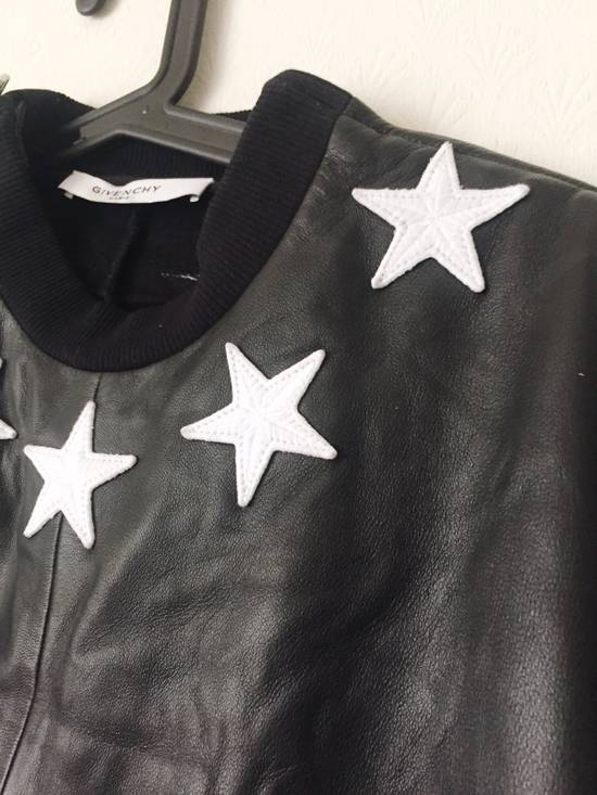Givenchy Givenchy Star Neck Leather Shirt With Stripe Cuff Size US S / EU 44-46 / 1 - 6