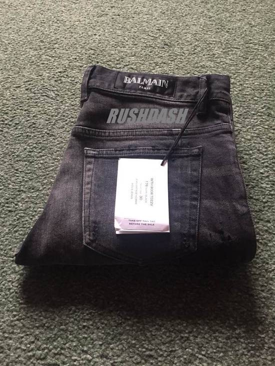 Balmain Black Distressed Faded Skinny Jeans(Made in Japan) Very Rare! Size US 30 / EU 46 - 2