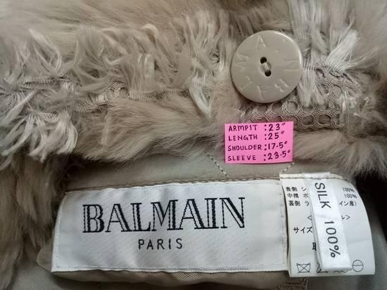 Balmain 🔥FINALDROP♨Reversible Balmain Paris Fur and Silk Jacket RARE Design Size US L / EU 52-54 / 3 - 15