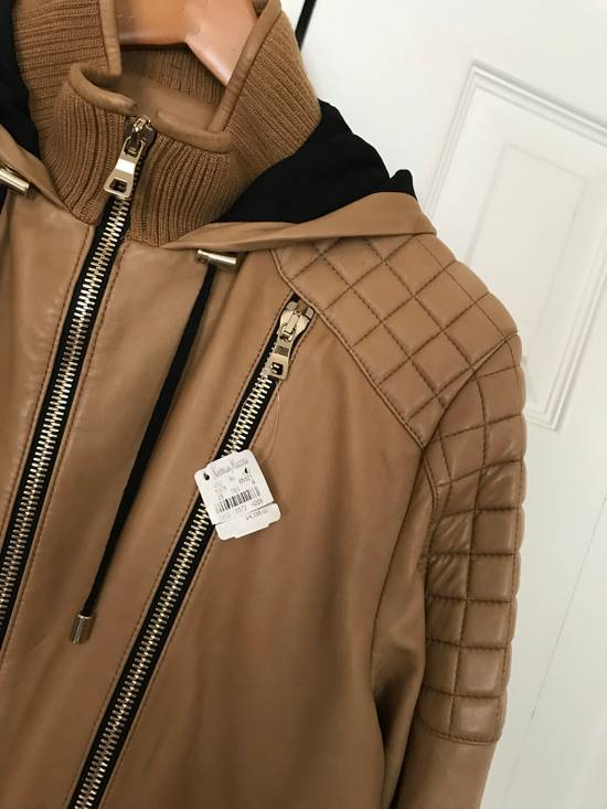 Balmain New $4155 Lambskin Leather Jacket Size US L / EU 52-54 / 3 - 3
