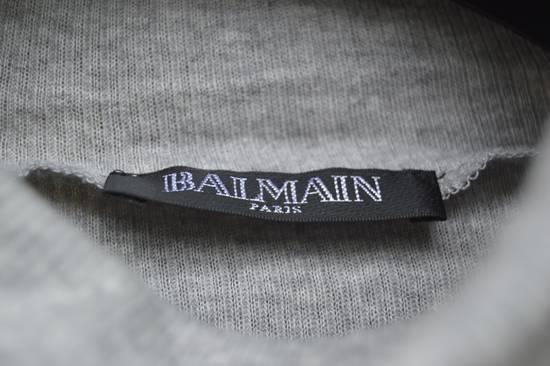Balmain Light Grey Ribbed Roll Neck T-shirt Size US M / EU 48-50 / 2 - 2