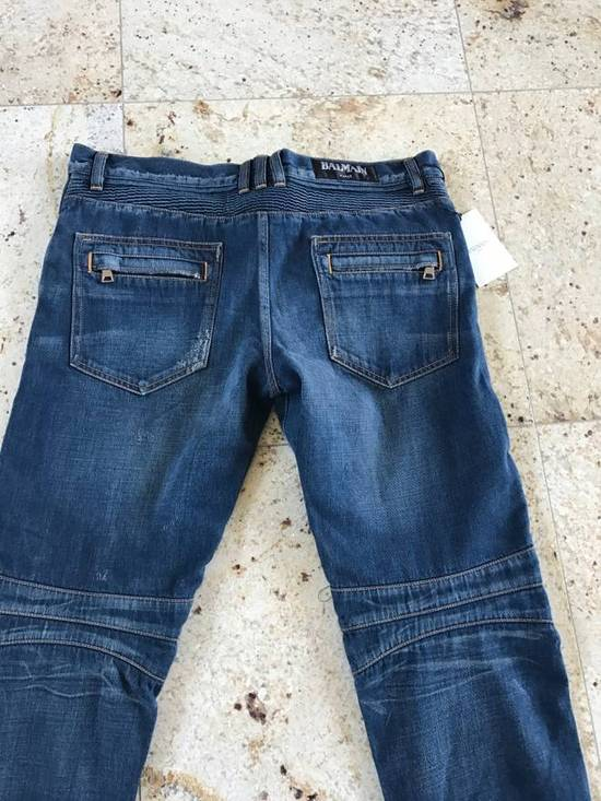 Balmain Distressed Blue Denim Size US 34 / EU 50 - 6