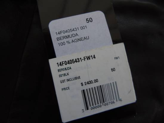 Givenchy F/W 14 Pleated Leather Shorts By Riccardo Tisci Size US 34 / EU 50 - 1