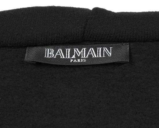 Balmain Original Balmain Leather App Black Men Hooded Sweatshirt Top Jumper in size M Size US M / EU 48-50 / 2 - 7