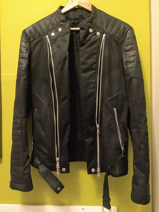 Balmain Balmain Waxed cotton moto jacket Size US M / EU 48-50 / 2 - 1