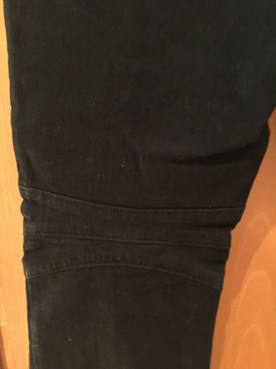 Balmain Quilted Waxed Biker Jeans Size US 31 - 4