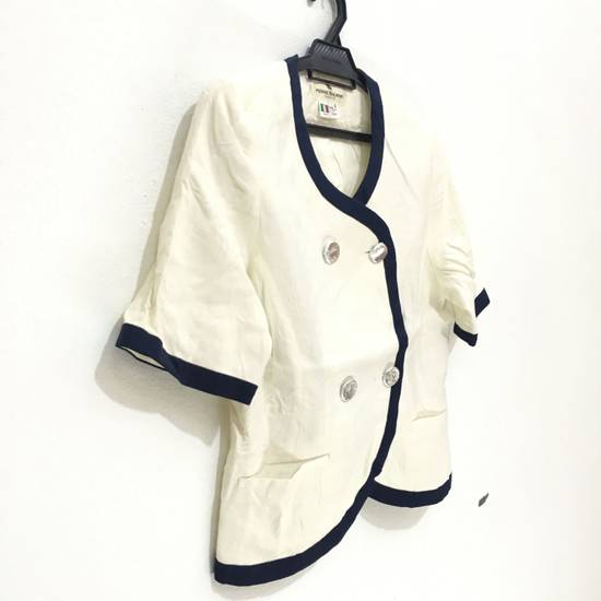 Balmain PIERRE BALMAIN PARIS Double Breasted Made In ITALY White Blouse Jacket Blazer Size 36S - 2