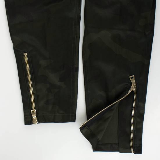 Balmain Men's Green Cotton Blend Camouflage Biker Pants Size L Size US 36 / EU 52 - 4