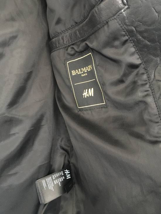 Balmain BALMAIN HM BLACK LEATHER JACKET Size US M / EU 48-50 / 2 - 3