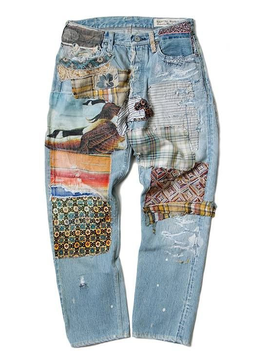 "Kapital KAPITAL ""Happy Patchwork Tapered"" Denim Size US 30 / EU 46"