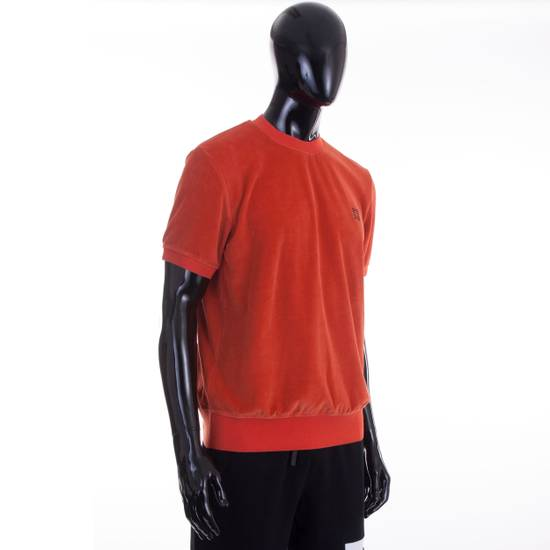 Givenchy Orange Men's Velour Crewneck T-Shirt With 4G Chest Logo Size US S / EU 44-46 / 1 - 4