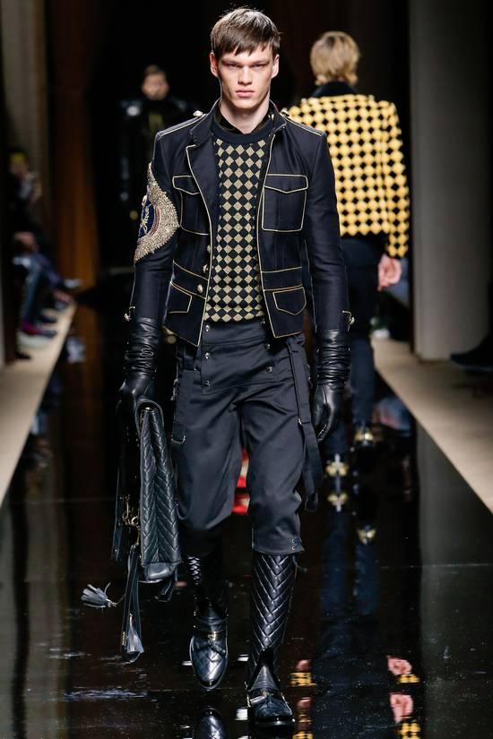 Balmain RARE RUNWAY Balmain Paris Black & Gold Wool Glitter Sweater Size US S / EU 44-46 / 1 - 1