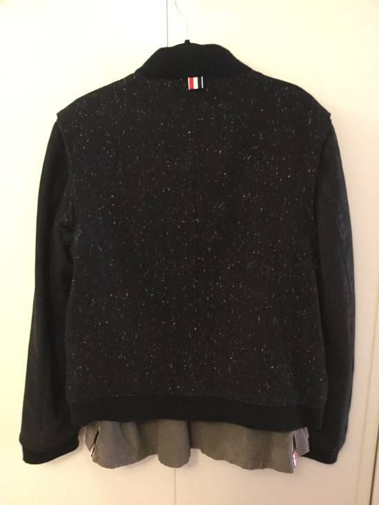 Thom Browne Calf Leather sleeve Wool bomber Size US L / EU 52-54 / 3 - 7