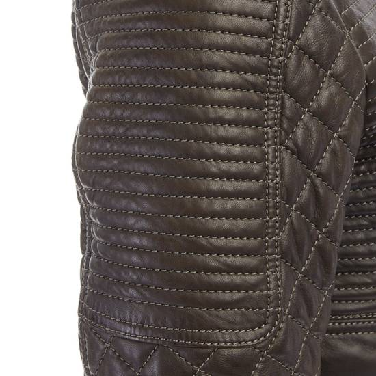 Balmain runway BALMAIN ROUSTEING green quilted leather motorcycle biker jacket EU48 M Size US M / EU 48-50 / 2 - 9