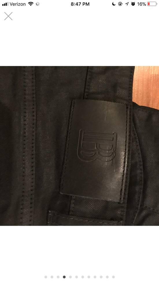 Balmain Pierre Balmain Black Waxed Moto Denim Size US 33 - 3