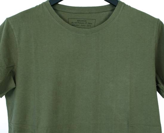 Balmain Original Balmain Distressed Elements Khaki Men T-Shirt in size L Size US L / EU 52-54 / 3 - 2