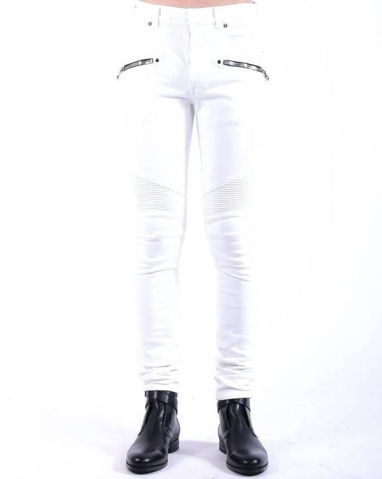 Balmain Balmain White Biker Skinny Authentic $1000 Jeans Size 32 Size US 32 / EU 48