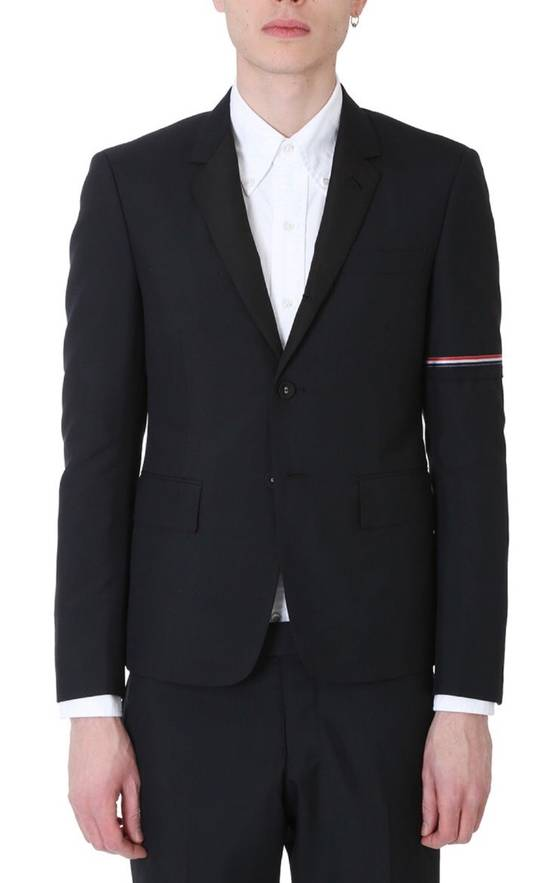 Thom Browne Brand New Thom Browne Arm Detailed Black Wool Blazer Size 46R