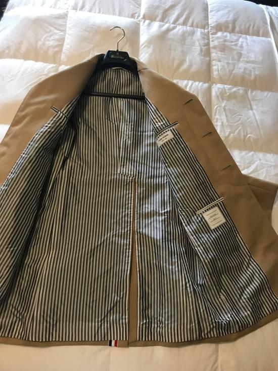 Thom Browne Thom Browne Tan Macintosh Overcoat - Size 00 Size US XXS / EU 40 - 8