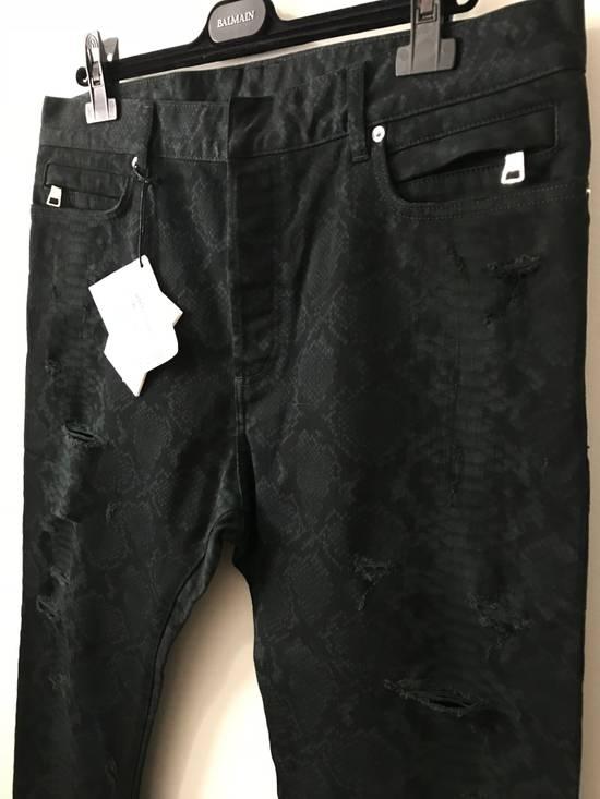 Balmain LAST DROP!! Size 36 - Distressed Snake Print Rockstar Jeans - FW17 - RARE Size US 36 / EU 52