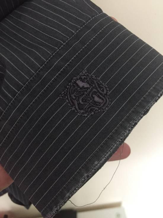 Balmain 11' SS Decarnin Era Grey Strip Distressed Shirt Size US M / EU 48-50 / 2 - 8