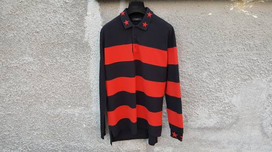 Givenchy Givenchy Striped Star Embroidered Rottweiler Oversized Polo Shirt size M (L / XL) Size US M / EU 48-50 / 2