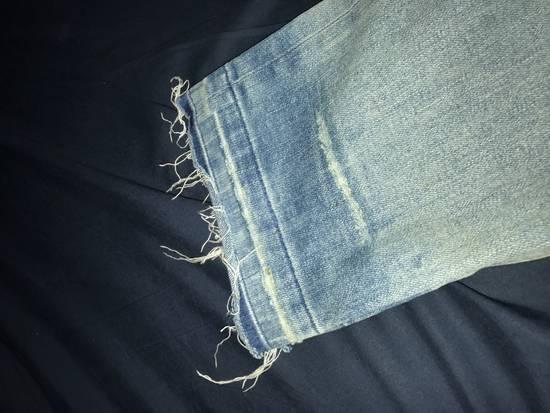 Balmain Blue Distressed Biker Rib Jeans Size US 34 / EU 50 - 2