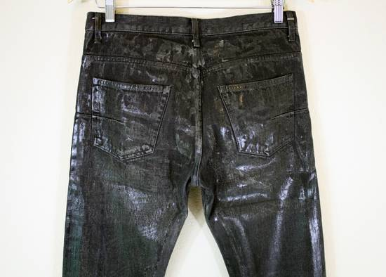 Dior Dior Homme FW04 Black Waxed 19cm Denim Jeans Size US 29 - 3
