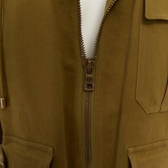 Balmain BALMAIN Pre14 army green stretch military zip up oversized jacket FR40 US8 UK12 Size US M / EU 48-50 / 2 - 9