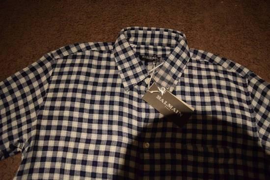 Balmain Balmain Paris $670 Authentic Men's Checkered Shirt Size 39 Brand New Size US L / EU 52-54 / 3 - 1