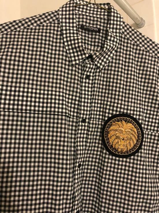 Balmain Balmain Logo Short Sleeve Button Up Size US M / EU 48-50 / 2