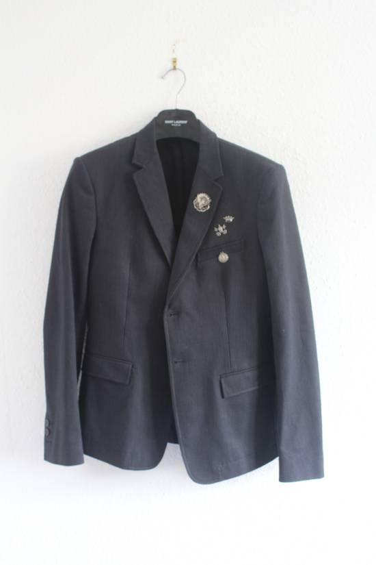 Balmain SS11 Campaign Decarnin Era Striped Pins Blazer Size 50R - 1