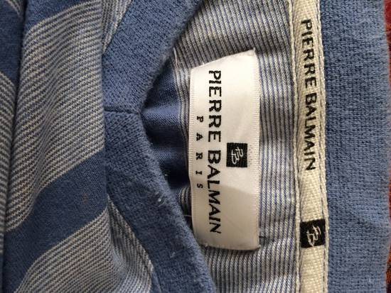 Balmain RARE PIRRE BALMAIN V-NECK SHIRT SINGLE POCKET STRIPED DESIGNER FASHION SIZR MEDIUM Size US M / EU 48-50 / 2 - 3