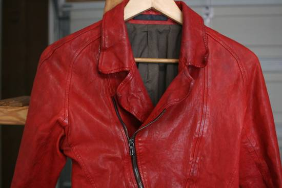 Julius FW09 'protectionism' Red Lambskin Rider Size 2 Size US S / EU 44-46 / 1 - 5