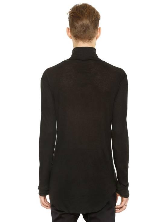 Balmain Black Ribbed Knit Roll Neck T-shirt Size US M / EU 48-50 / 2 - 2