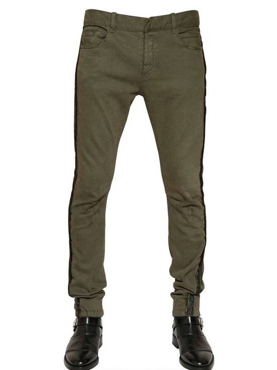 Balmain Khaki Jeans With Trim Piping Size US 32 / EU 48 - 5