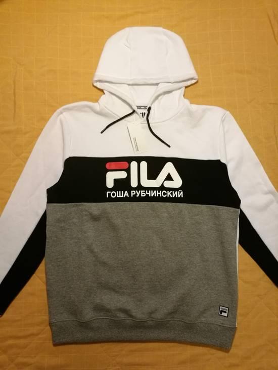 Gosha Rubchinskiy Gosha Rubchinskiy x Fila Hoodie (White/Black/Grey) Size US XL / EU 56 / 4