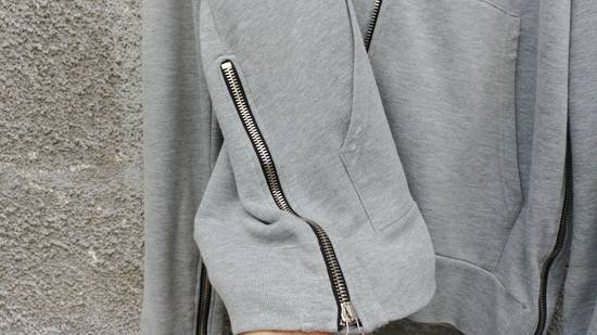 Balmain FW10 Balmain Grey Destroyed Distressed Decarnin Era Men's Hoodie size L (XL) Size US L / EU 52-54 / 3 - 6