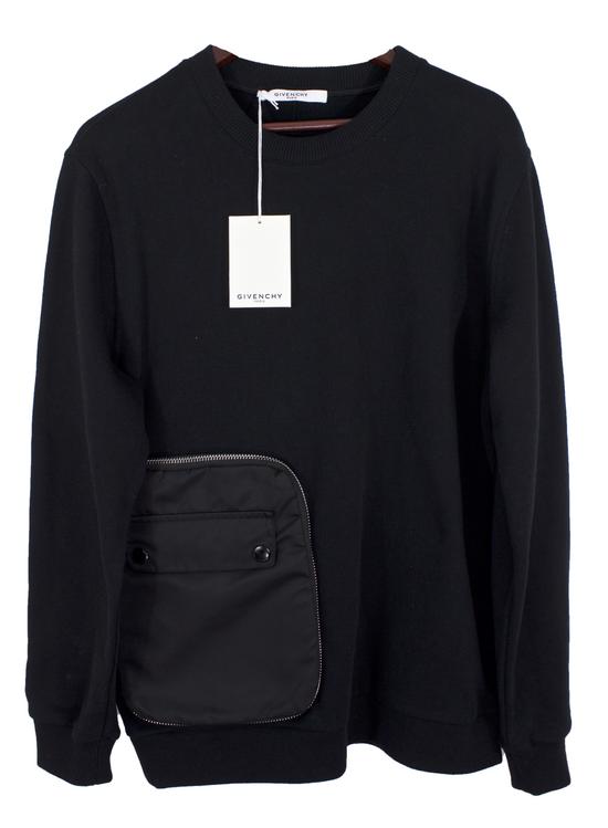 Givenchy Black Zip Pocket Sweatshirt Size US M / EU 48-50 / 2