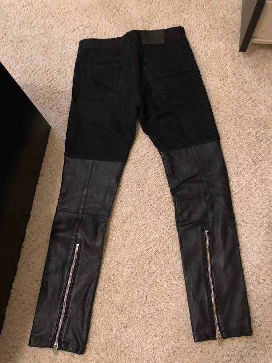 Givenchy Half Leather Jeans Size US 29 - 1